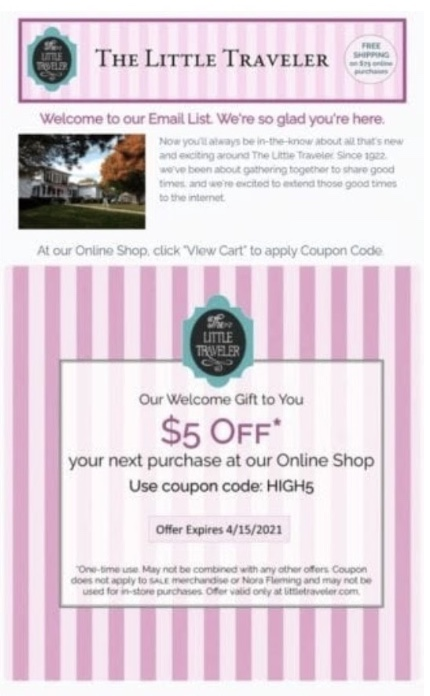 The special offer email