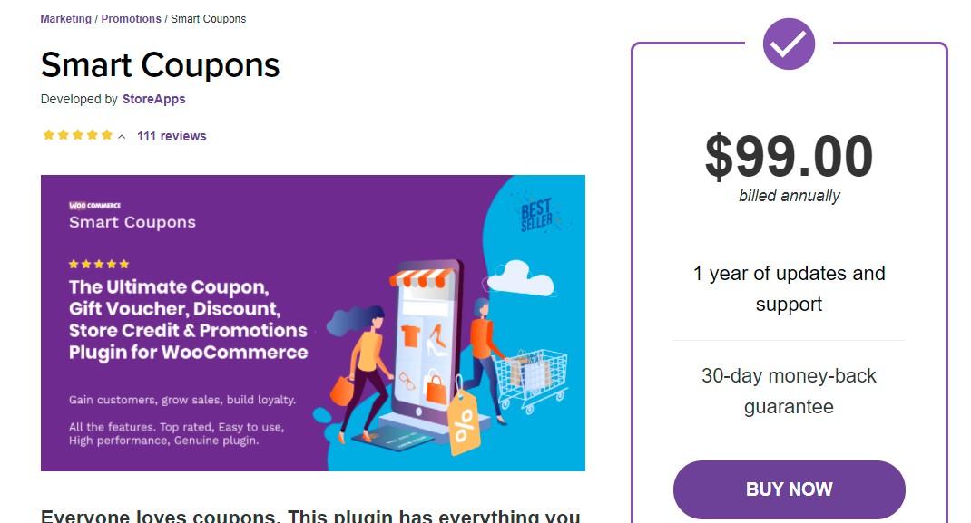 Smart coupons