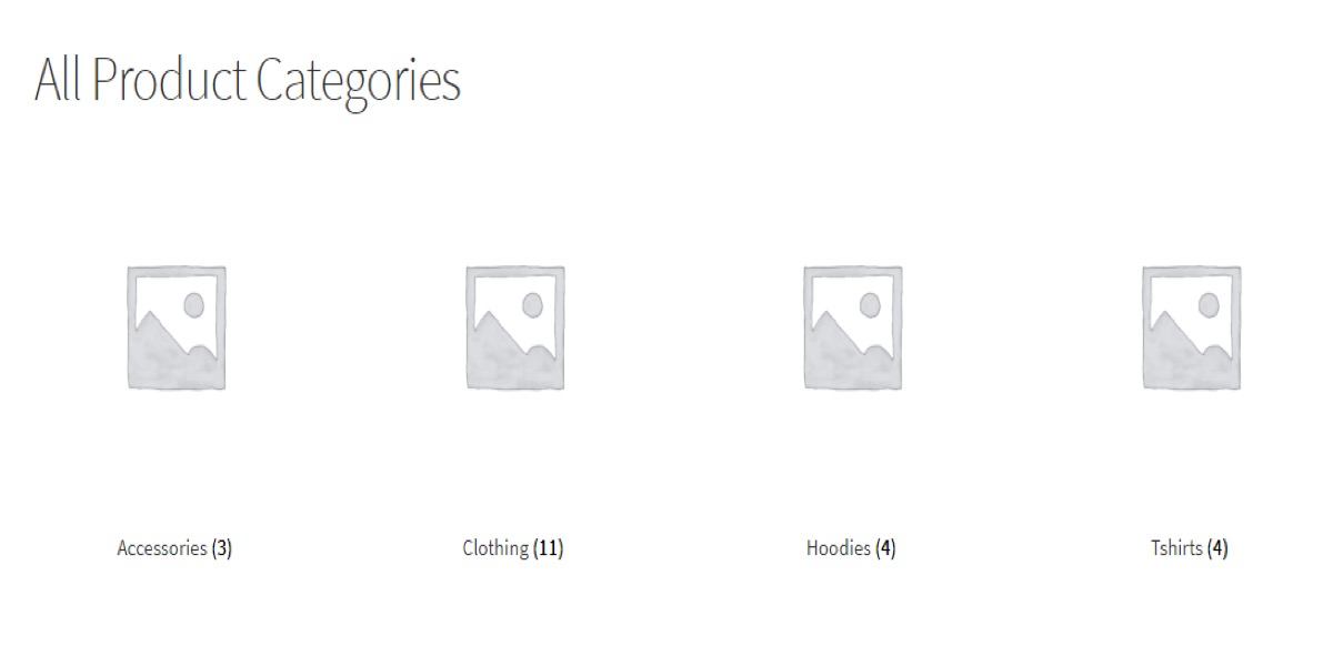 Product Categories shortcodes
