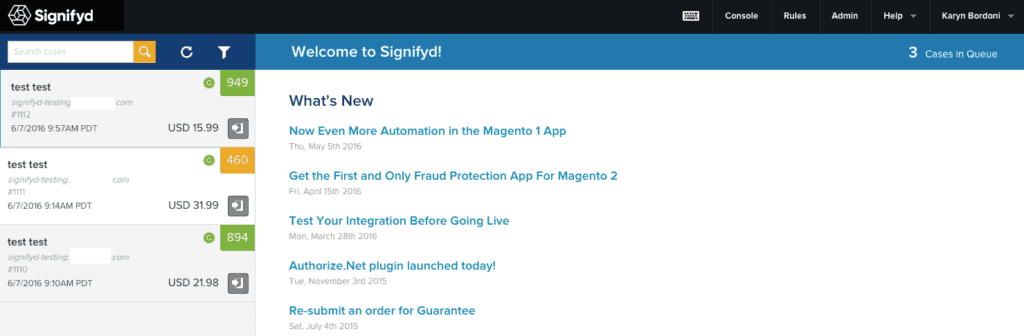 """Next, type the keyword """"Signifyd"""""""