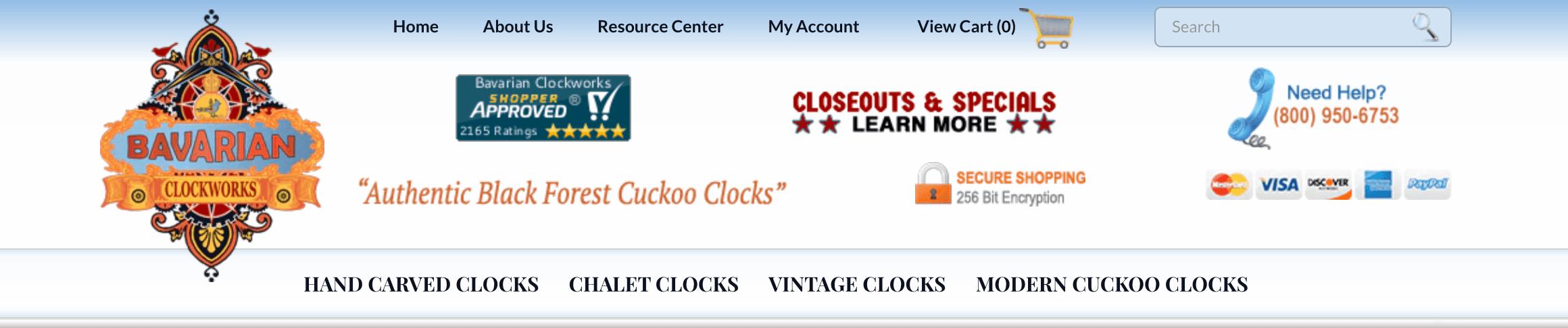 Bavarian Clockworks website