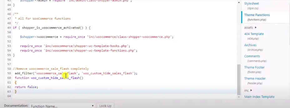 Step 1: Access theme functions.php files
