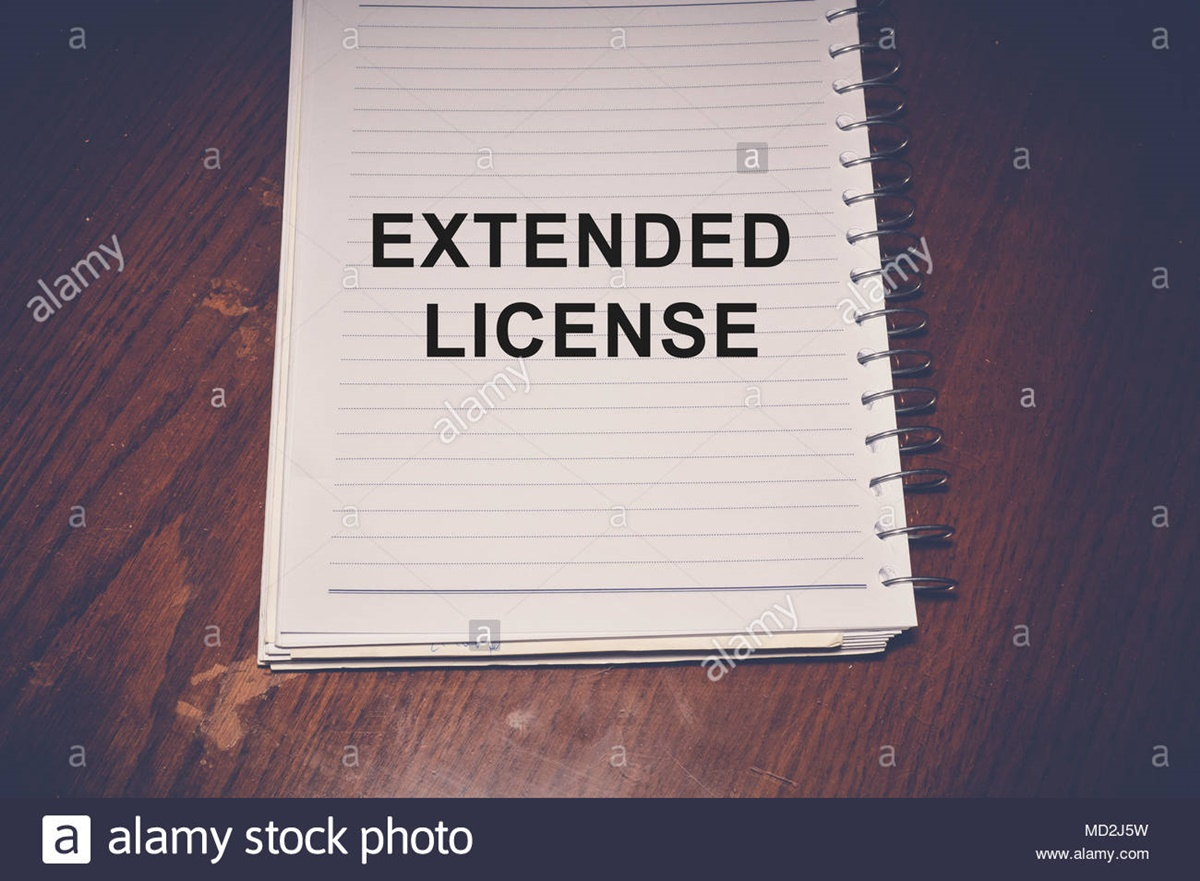 Stock photo with extended / advanced license