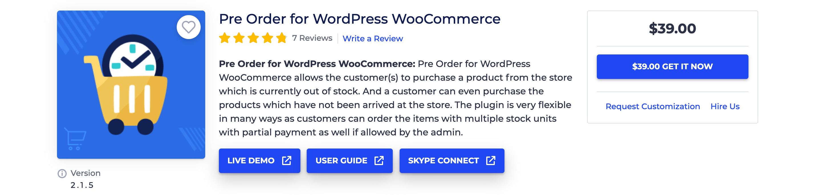 Pre Order for WordPress WooCommerce