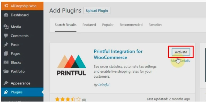 Install Printful integration for WooCommerce