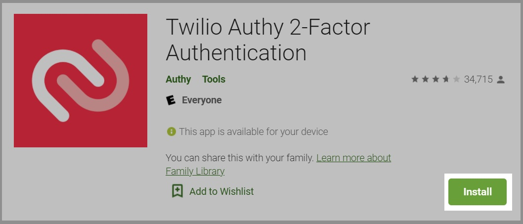Installing Authy