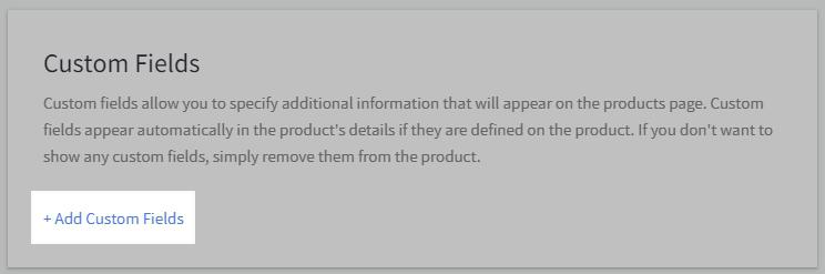 Adding BigCommerce custom fields
