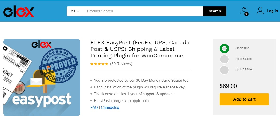 ELEX EasyPost Shipping And Label Printing Plugin