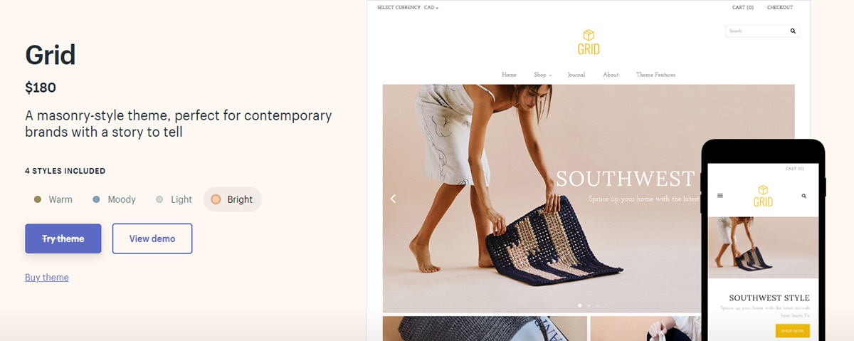 Shopify Grid Theme Review 2020: Tell a Story on Your eCommerce Website