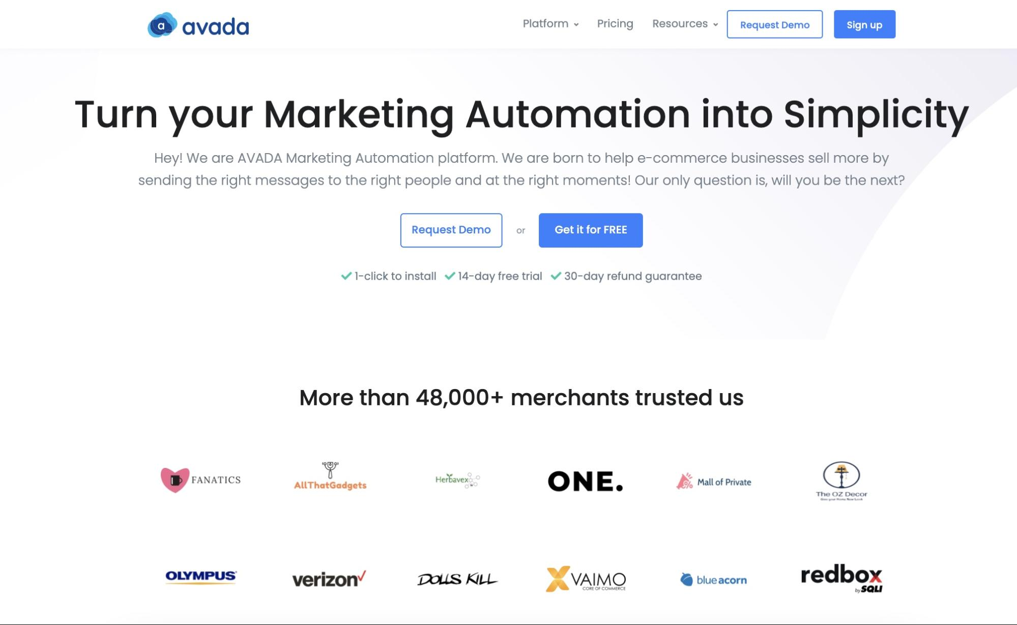 Use AVADA Marketing Automation to run affiliate marketing campaigns