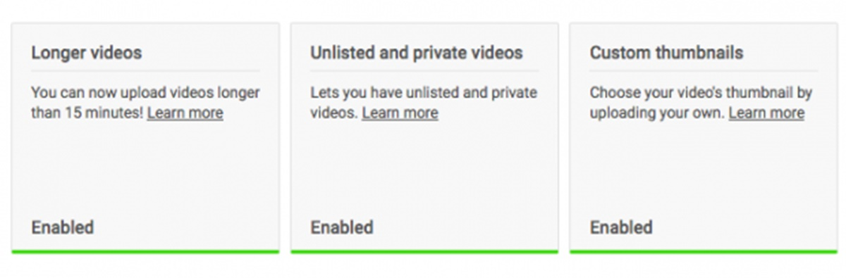 Longer videos and custom thumbnails are available