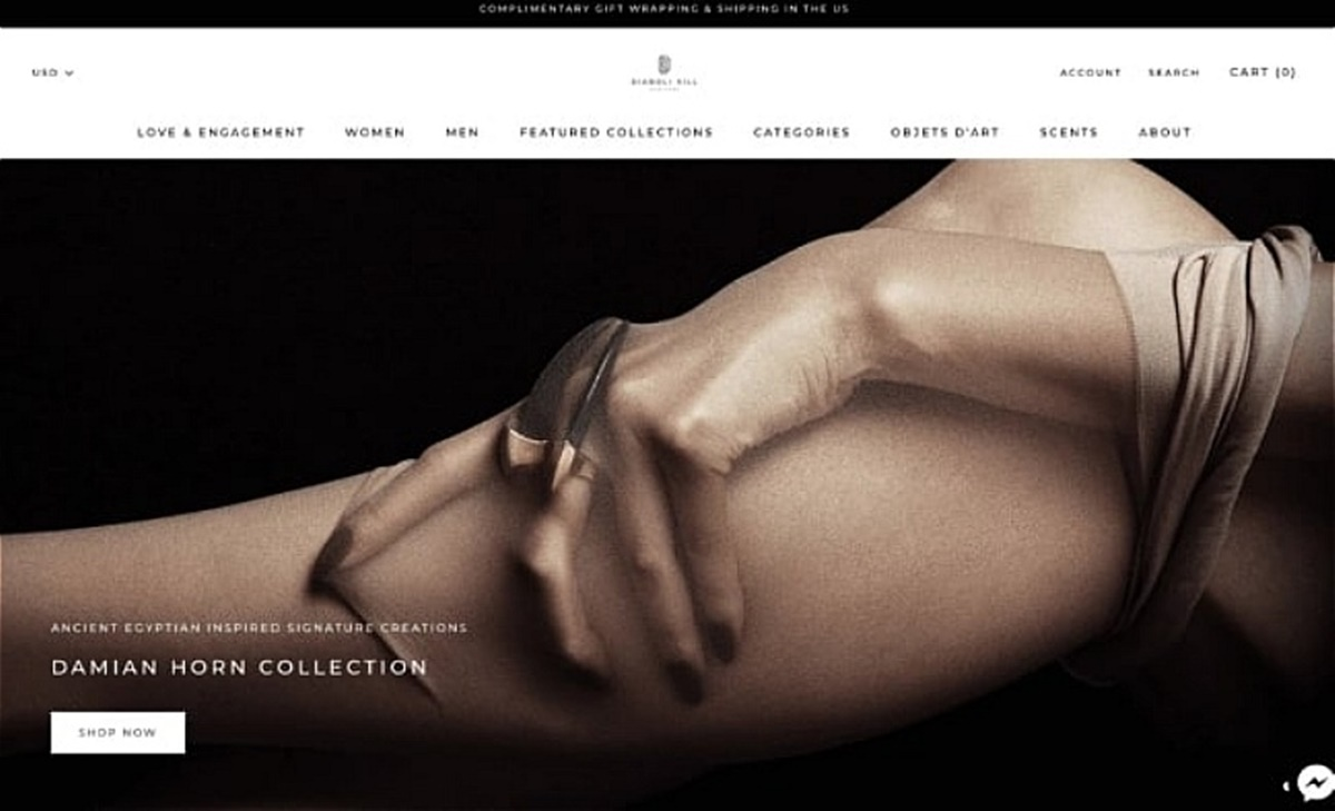 Jewelry brand Diaboli Kill's photography is bold and sexy - it hijacks the attention.