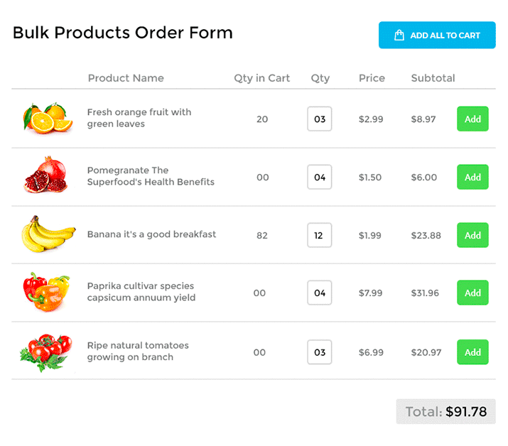 What is the wholesale order form?