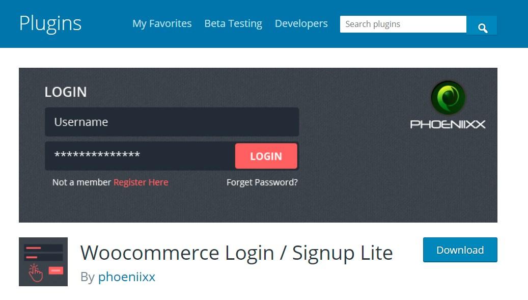 WooCommerce Login/ Signup Lite