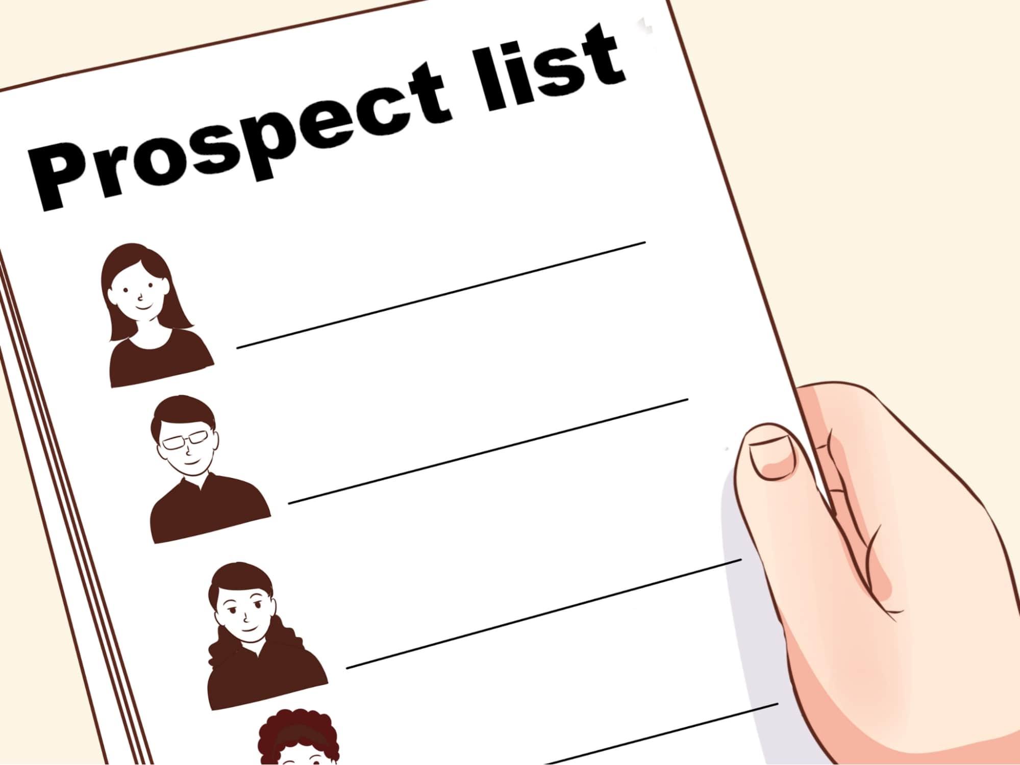 Manage your prospect list