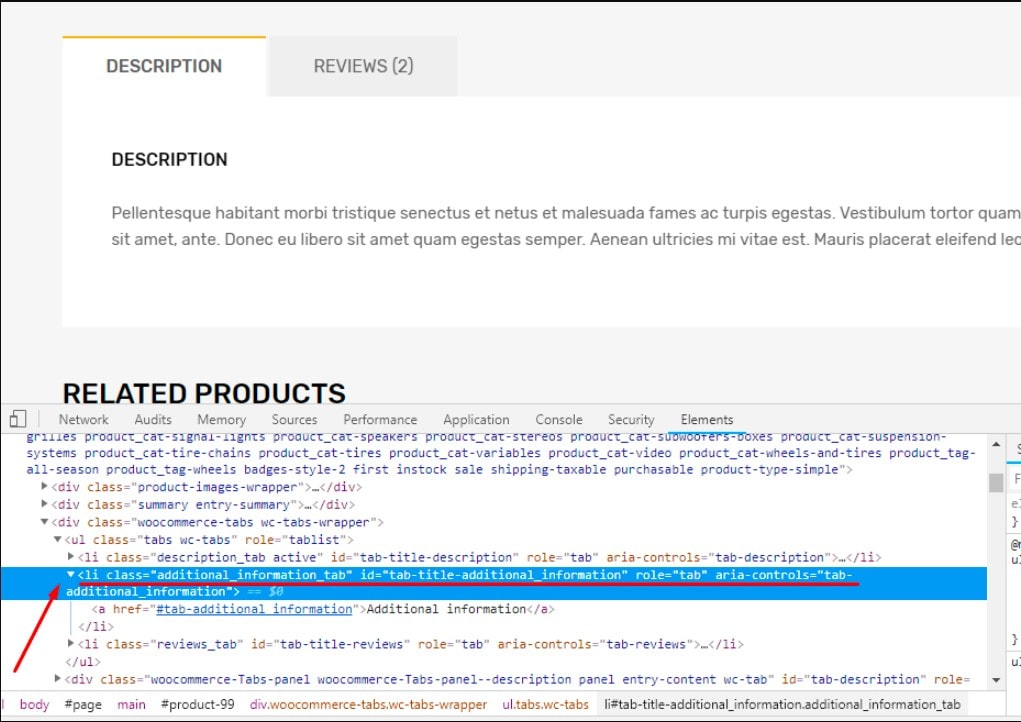 Hide Additional Information Tab in WooCommerce using CSS code