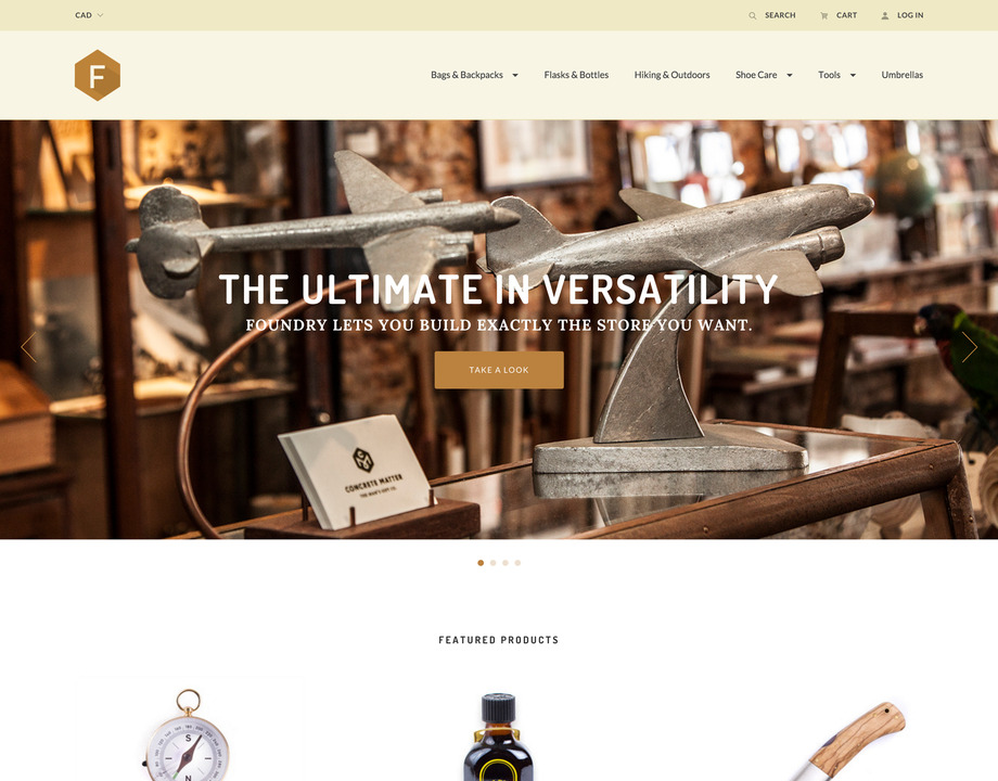 Foundry Warm BigCommerce Theme preview Source: Free Website