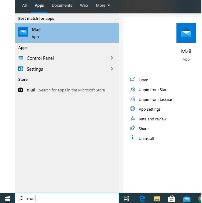 Set up Godaddy email on the Windows Mail app