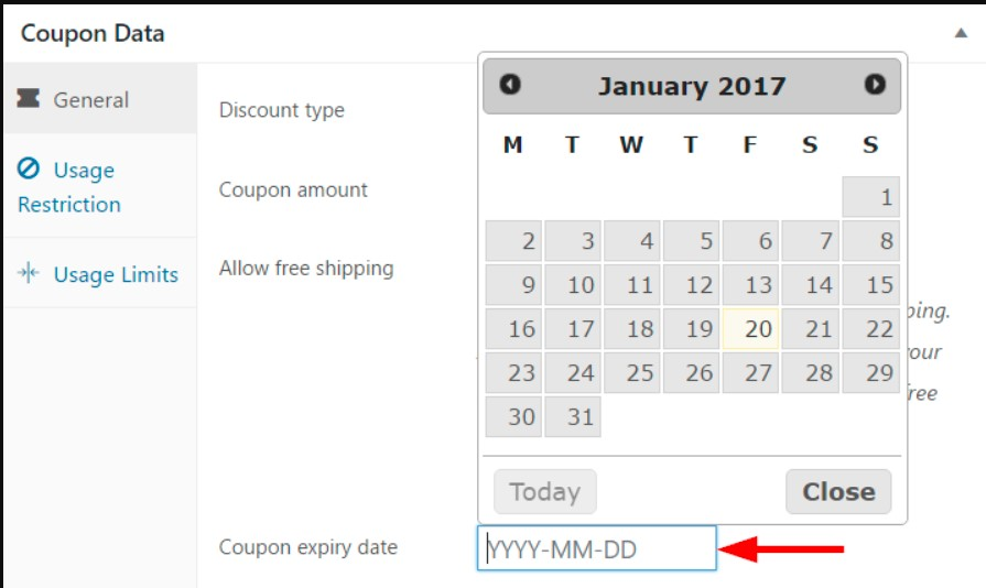 Coupon expiry date