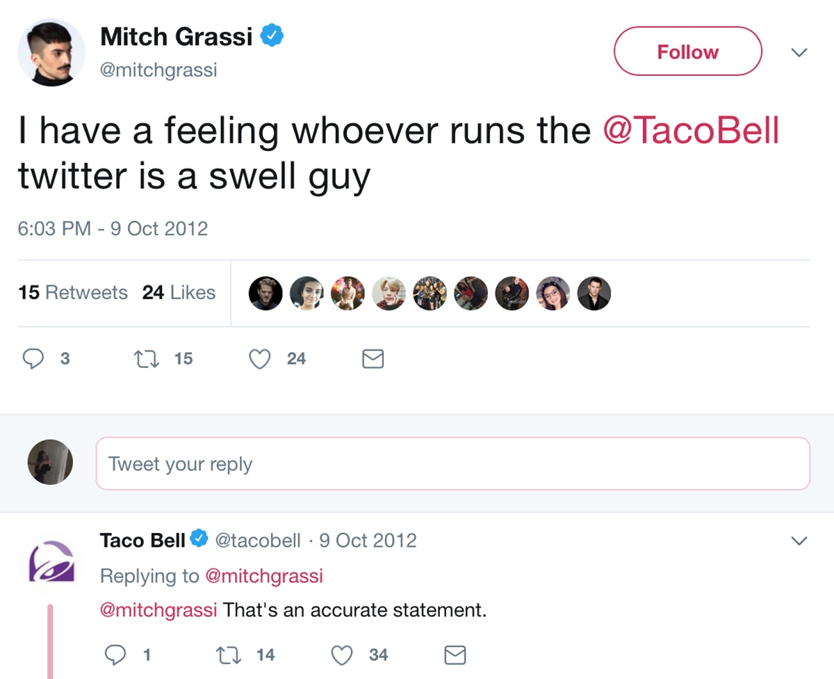 Taco Bell engaging with its customers