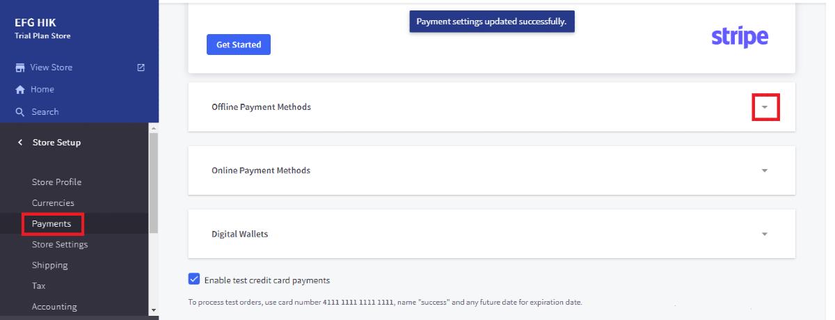Open Offline Payment Method