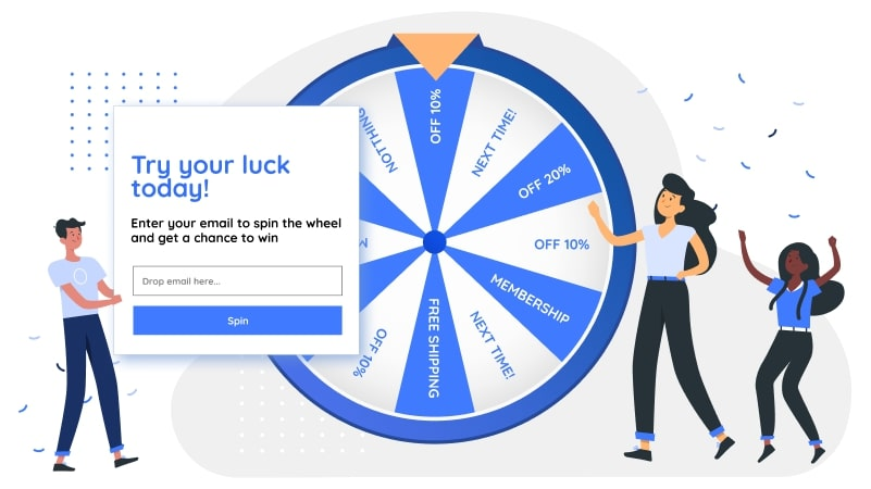 AVADA Marketing Automation's pop-up forms and spin-to-win wheel