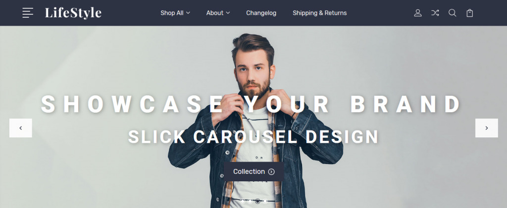 Lifestyle BigCommerce Theme preview Source: ECommerce Root