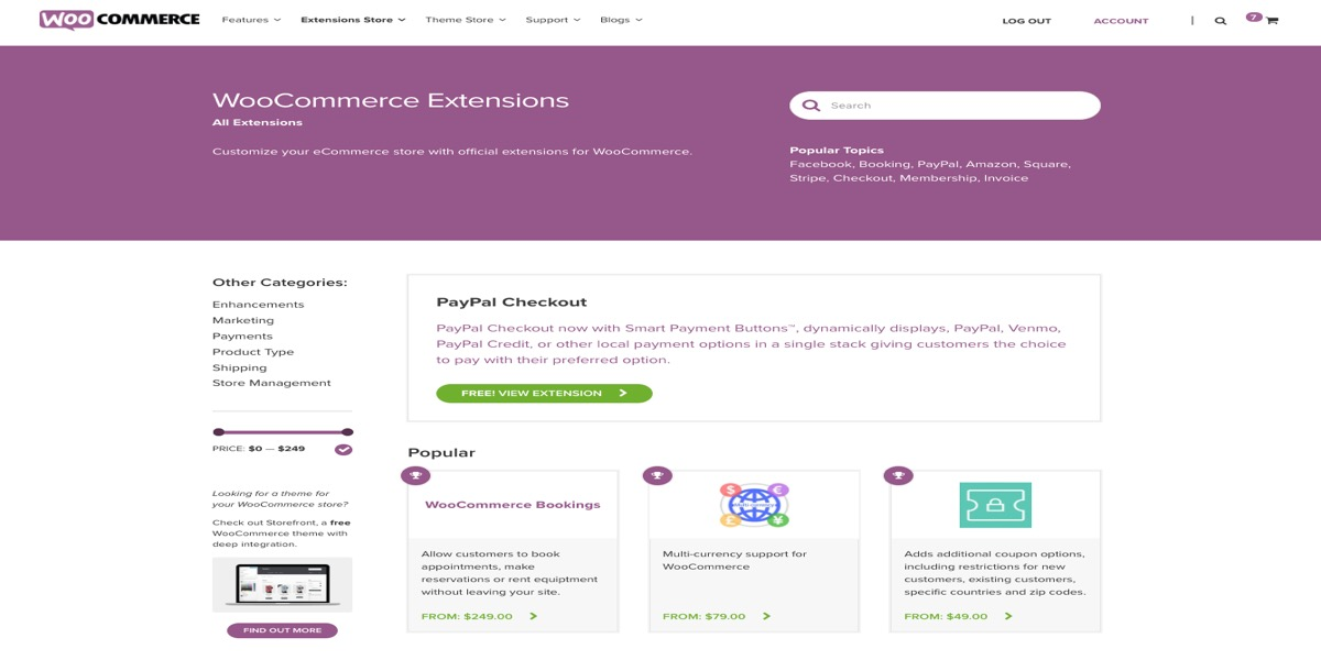 Additional extensions