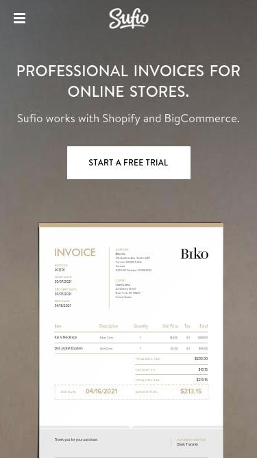 Sufio Invoices for BigCommerce Source: SimilarWeb