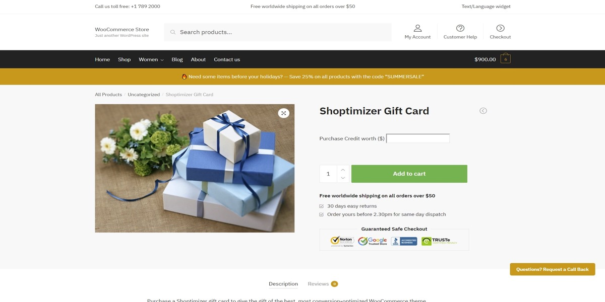 Create WooCommerce product and link to coupon