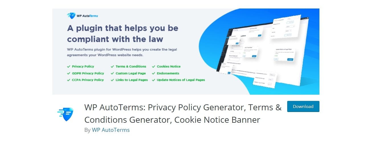 A WordPress plugin that can help with your Terms of Service