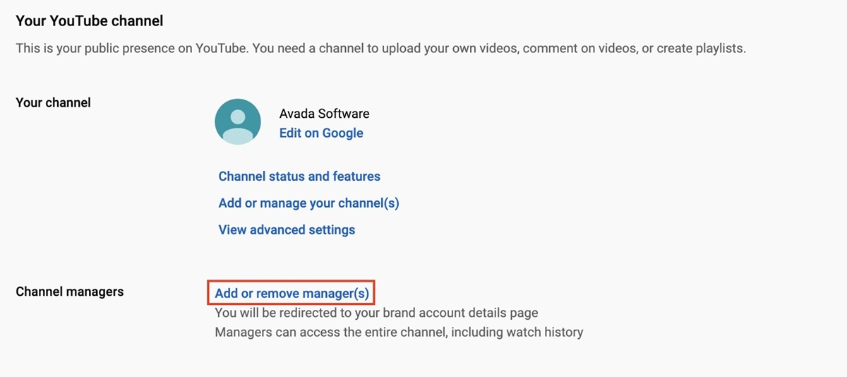 Add or remove managers