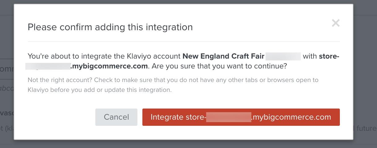 Start Klaviyo BigCommerce integration