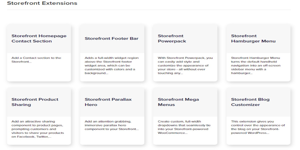 5 storefront plugin extensions