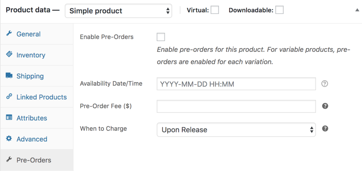 Pre-Orders Product