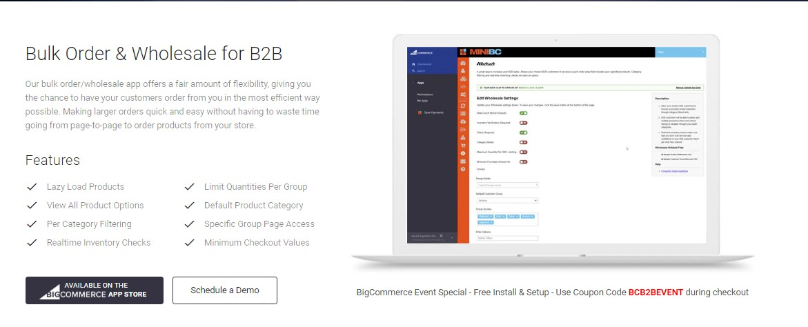 Bulk Orders and Wholesales for BigCommerce