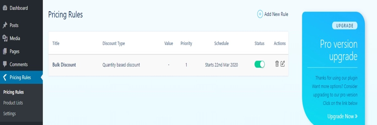 Configure your dynamic pricing rules