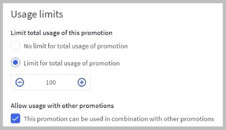 BigCommerce usage limit settings