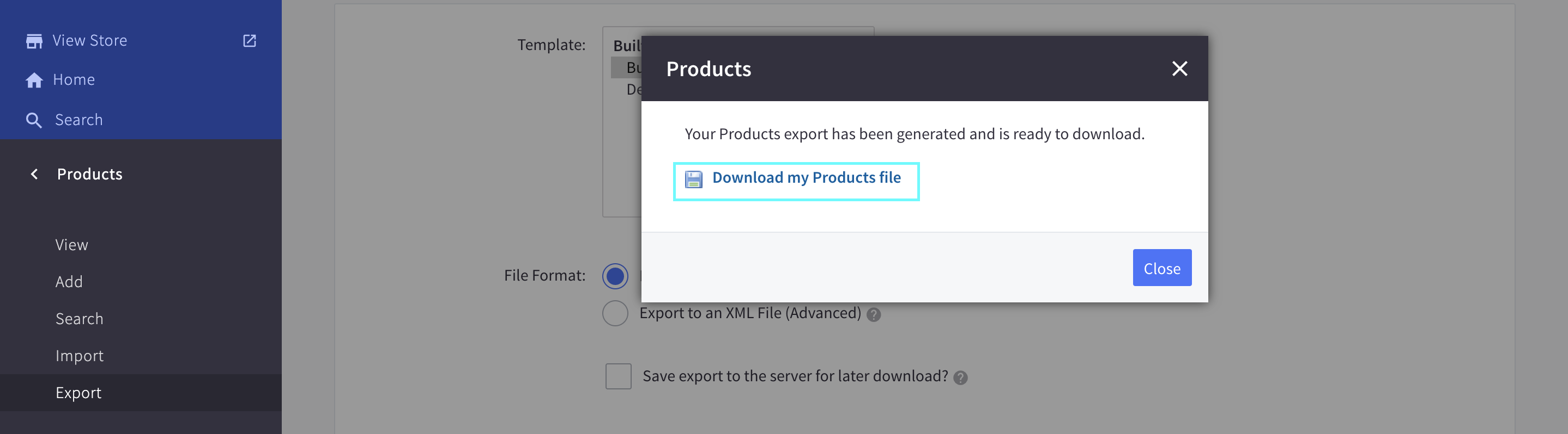 Download product file