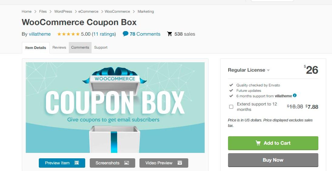WooCommerce Coupon Box