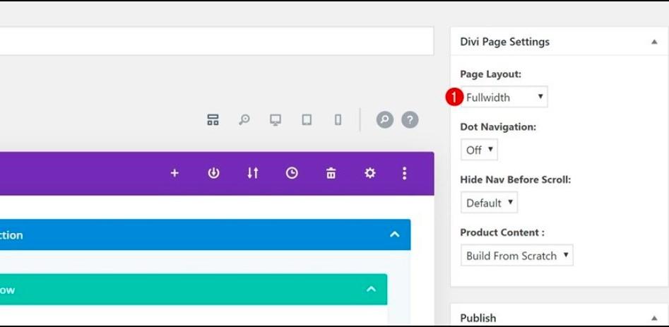 Enable Divi & Modify Page Settings