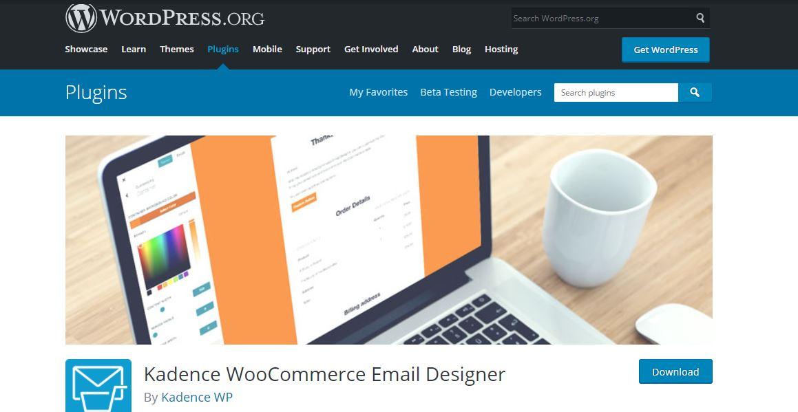 example of Kadence WooCommerce Email Designer
