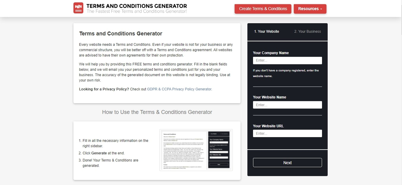 Terms and Conditions Template - The Best Free Terms and Conditions Generator