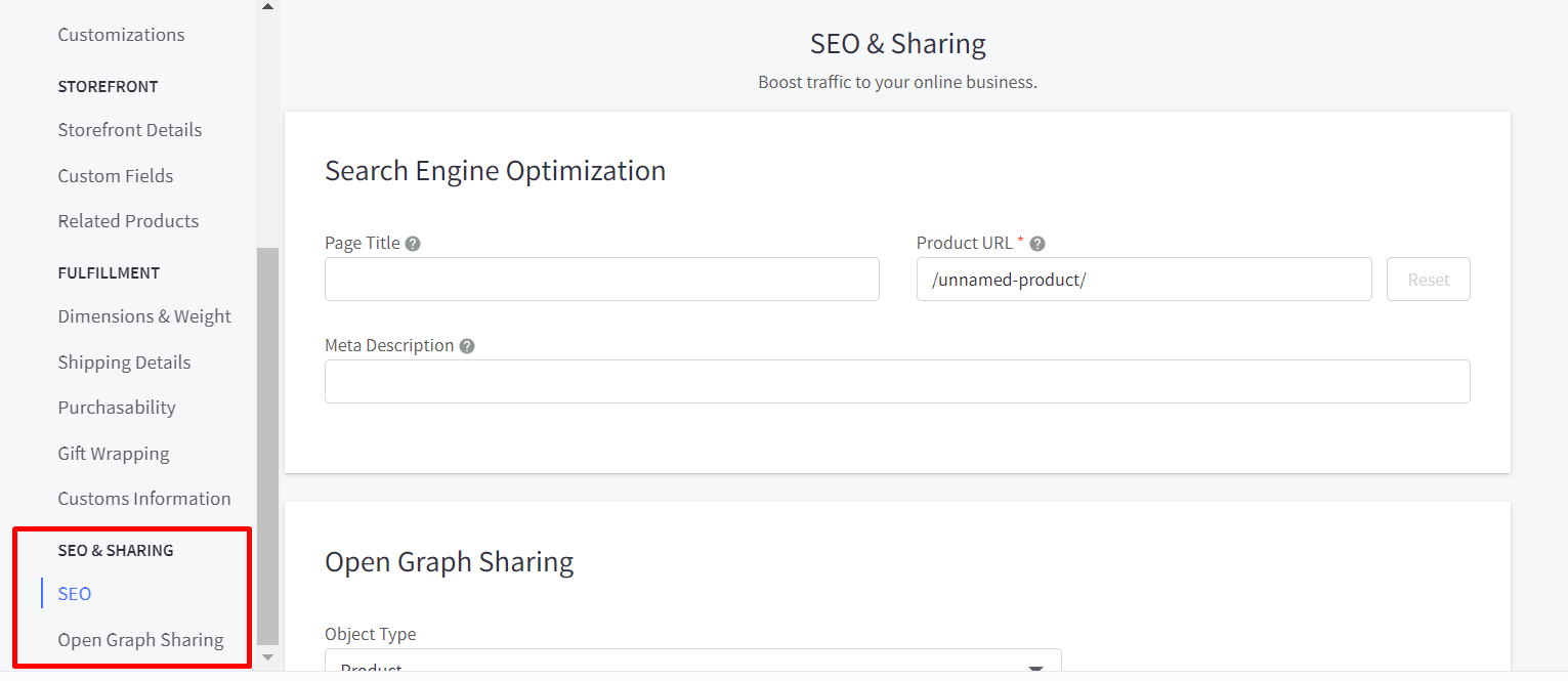 Add SEO and Open graph sharing information