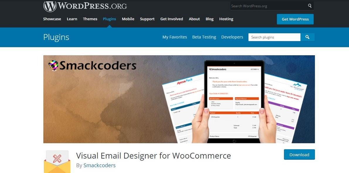 example of Visual Email Designer for WooCommerce