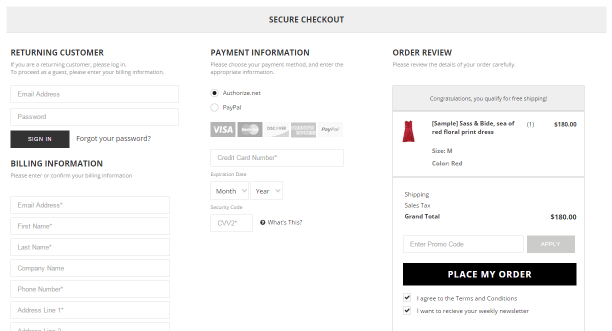 True One Page Checkout on BigCommerce Source: IntuitSolutions