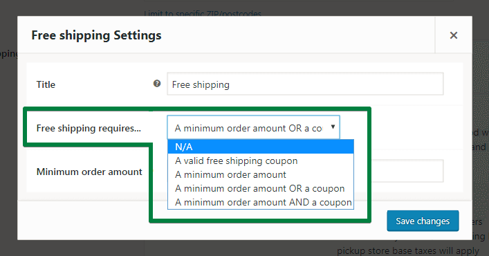 Set up a fixed shipping rate