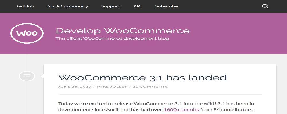 An example of the latest version of WooCommerce