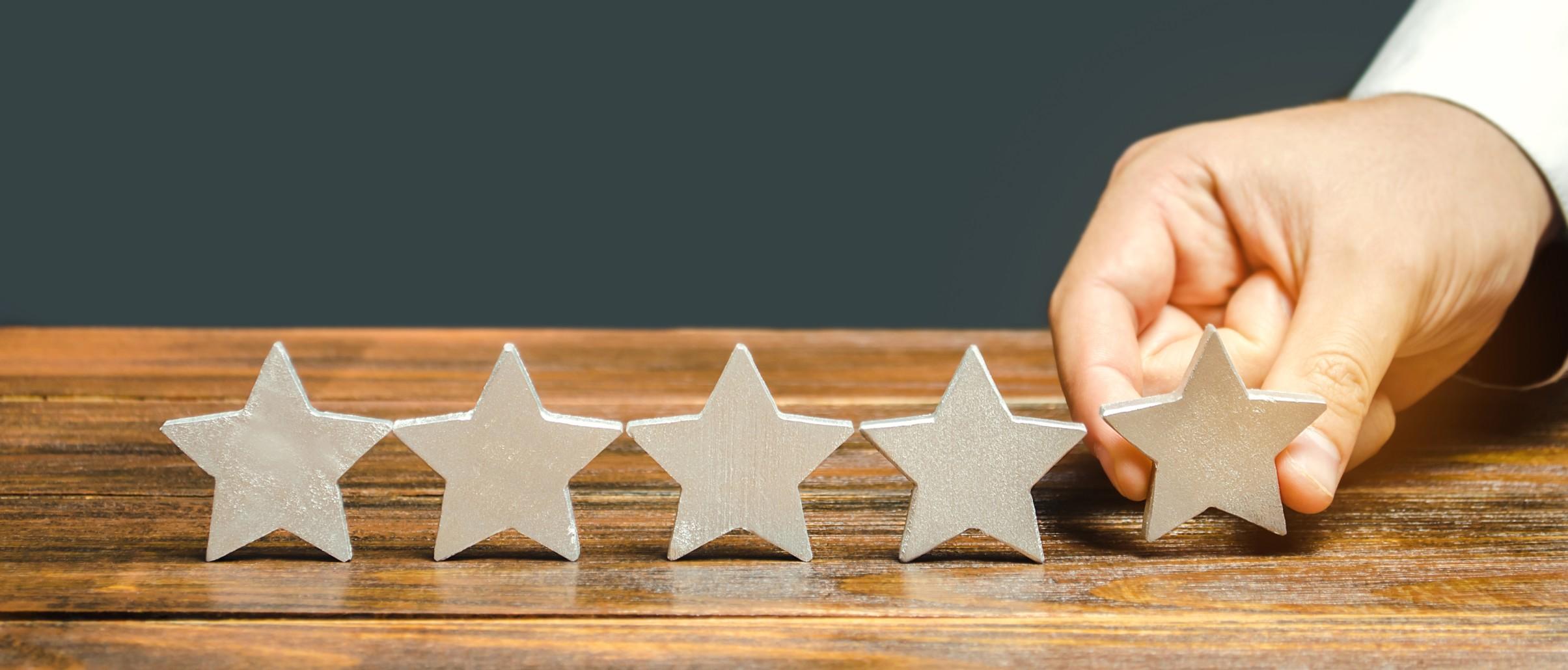 High customer ratings