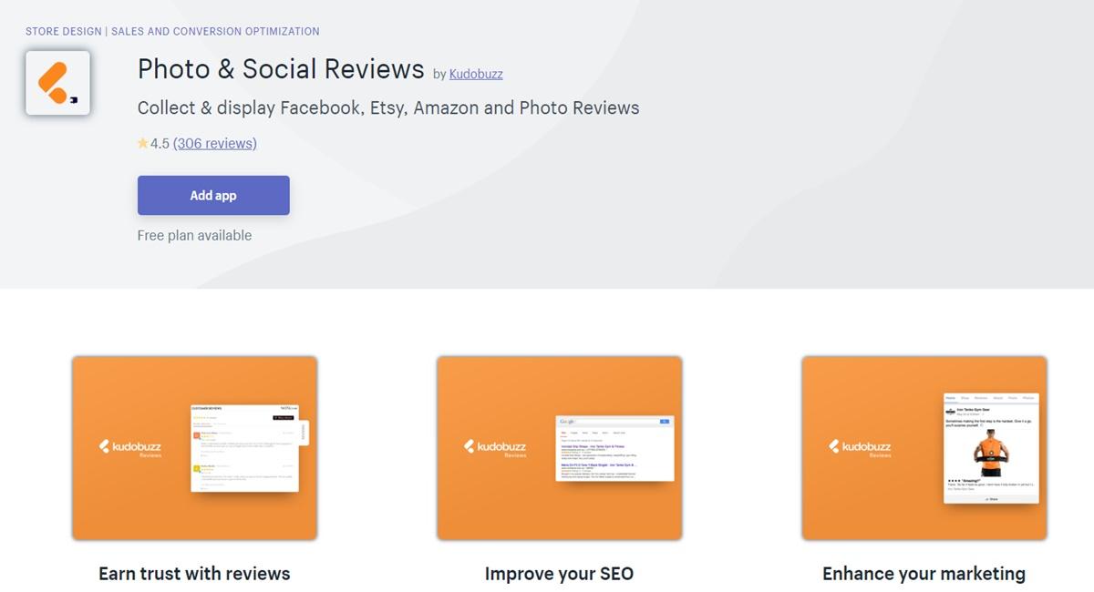 Photo & Social Reviews - Collect and display reviews